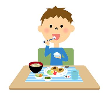 食事やおやつは規則正しく